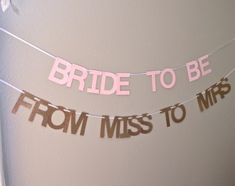 Bridal Shower customizable banner, choose your wording!