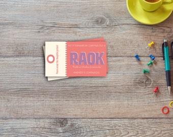 RAOK | Random act of kindness | Editable | Printable | Instant download