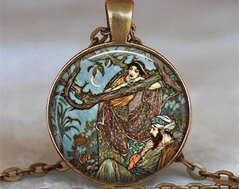 Rubaiyat art pendant, resin pendant, Valentine's gift, anniversary gift, romantic gift, lovers, poetry pendant keychain key chain key fob
