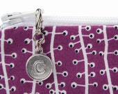 Custom letter charm zipper pull monograms purses - clip on bag embellishment