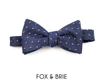 Indigo Dot Bow Tie