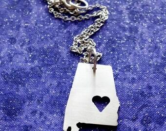 I Heart Alabama - Necklace Pendant or Keychain