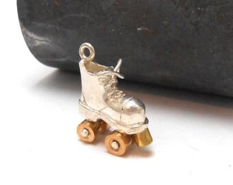 Roller Derby Roller Girl Sterling Silver Roller Skate Pendant