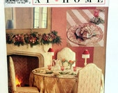 Vintage Style 2557, Sewing Pattern, Dining Room Decor, Chair Cover, Round Tablecloth, Table Topper, Place Mat, Napkin Pattern,  Napkin Ring
