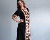 Vintage 1970s Ethnic Caftan - 70s Dress - Mali Mali Dress