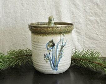 Vintage Hand Thrown Stoneware Studio Pottery Farmhouse Crock   Sale was 46.00