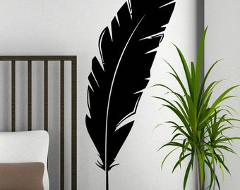 Vinyl Wall Art Decal Sticker Feather 5472A
