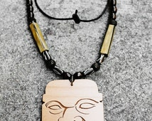 Not Pottery PRE-COLUMBIAN Stome EFFIGY HEAD BEAD PENDANT ... |Olmec Head Necklace