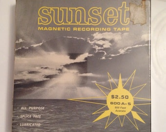 Sunset Magnetic Recording Tape Reel To Reel Blank Tape 600 Feet Vintage A-5 Sealed All Purpose 1970s