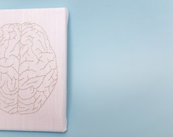 Hand Embroidered Brain-Top view