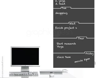 TABBED MEMO CALENDAR - Removable Chalkboard Wall Decals by Graphics Mesh