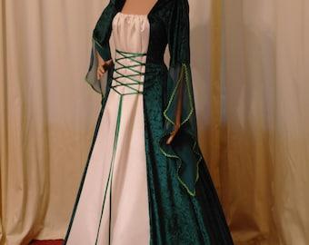 celtic dress, medieval gown, handfasting dress, renaissance, plus size dress, elven dress, wedding  dress, custom made