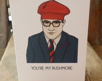 You're my Rushmore - greetings card - Wes Anderson
