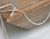 14k Solid white gold diamond cross necklace