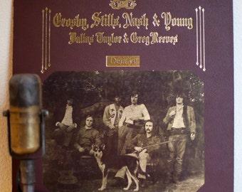 "ON SALE CSNY Vintage Vinyl Lp Record Album 1970s Crosby Stills Nash & Young  ""Deja Vu""(1977 Atlantic re-issue)"