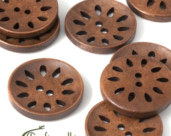 Large wooden buttons - set of 10 buttons - FNA1616
