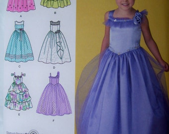 Girls boutique padgett dress Special Occasion Wedding Flower Girl Size 5 to 8 Simplicity 2463