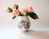 Small Porcelain Vase Herend China Vase Queen Victoria Flowers & Butterflies