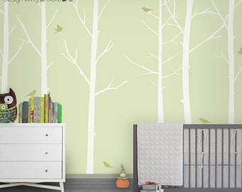 Tree Decal Nursery - Baby Nursery Wall Decal - Woodland Nursery - Forest Wall Decal - LSWD-0031