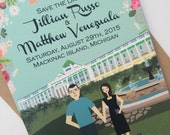 Save the Date : Custom Illustrated