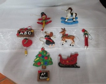 10.00 Christmas Ornaments/Christmas Tree/Reindeer/ Angel/Teacher's Gift/Rocking Horse/Instant Collection by Gatormom13 JUST REDUCED