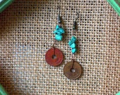 Turqoise Centavo Coin Earring
