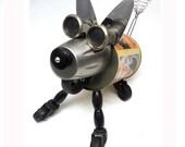Jack The Robot Terrier Assemblage Steampunk Robot Dog Sculpture