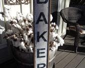 Bakery Vintage Sign,45x7.25 Bakery Fixer Upper, Framed Bakery Wood Sign