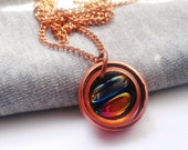 Copper Upcycled Necklace by Absolute Jewelry Geometric Iridescent