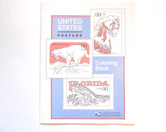 United States Postage Coloring Book, 1994, Vintage Coloring Book