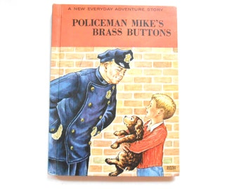 Policeman Mike's Brass Buttons, a Vintage Children's Book
