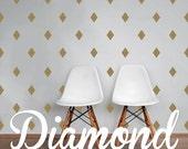 Mini Diamond Wall Decals, Geometric Wall Design, Customize Nursery and Interior Walls WAL-GEO6