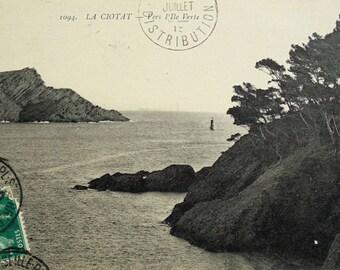 Antique French Postcard - L' Ile Verte, La Ciotat, Bouches-du-Rhône, France