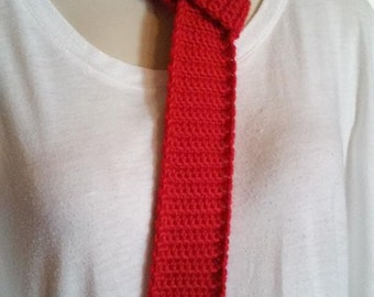 Crocheted Tie - Red