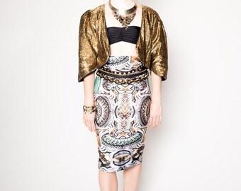 Royalty Kaleidoscope Pencil Skirt