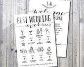 Printable Best Wedding Itinerary Timeline with Welcome Letter