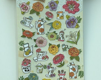 Flowers Deco sticker art stickers -1 Sheets Funny ss331