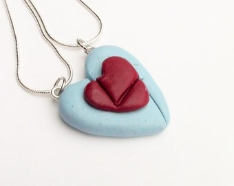 Legend of Zelda Heart Container Friendship Necklace