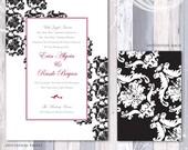 Elegant Damask Pattern Invitation Suite