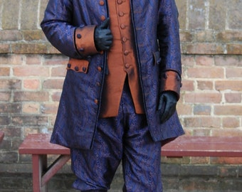 Mans Rococo Jacket 18th Century Late Baroque Pirate Coat
