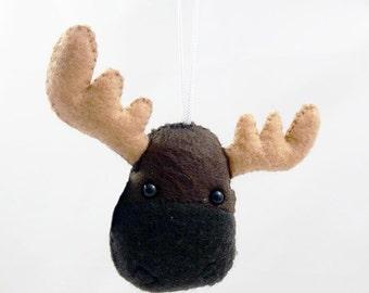 Felt Moose Plush Ornament - Made to Order