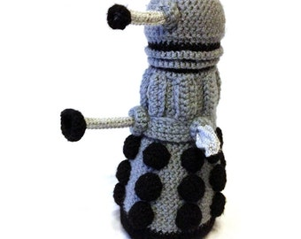 Dalek Crochet Plush Toy  - Made to Order