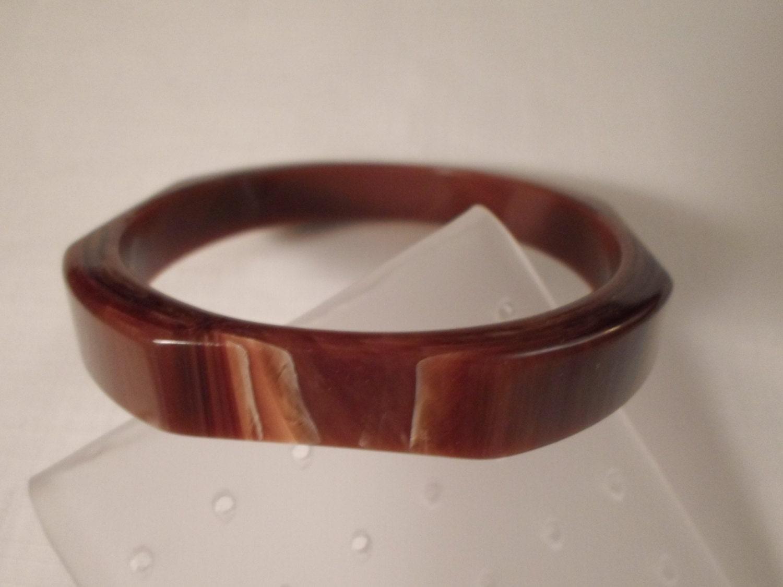 vintage bakelite bangle bracelet marbled by chezrene