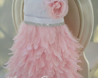 Soft So Pretty Girls Apron Feather Dress