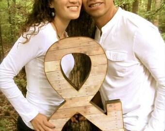 Ampersand, Photo Prop, Wedding, Engagement Photoshoot prop, Reclaimed Wood Look, Extra Large