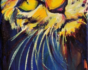 Whiskers on Kittens, A4 Fine Art Cat Painting Print