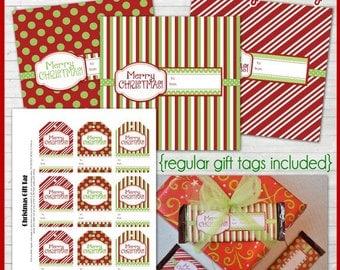 Christmas CHOCOLATE BAR Gift Tags, Printable Holiday Gift Tags - Instant Download