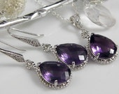 Amethyst Bridesmaid Jewelry | Purple Bridesmaid Jewelry | Amethyst Wedding Jewelry | Purple Wedding Jewelry | Bridesmaid Necklace | Gift