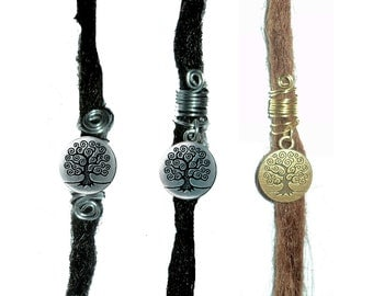 buy 3 and get 1 extra for free: swirly tree of life dreadlock bead