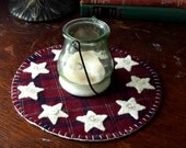 Country Stars Rustic Americana Candle Mat